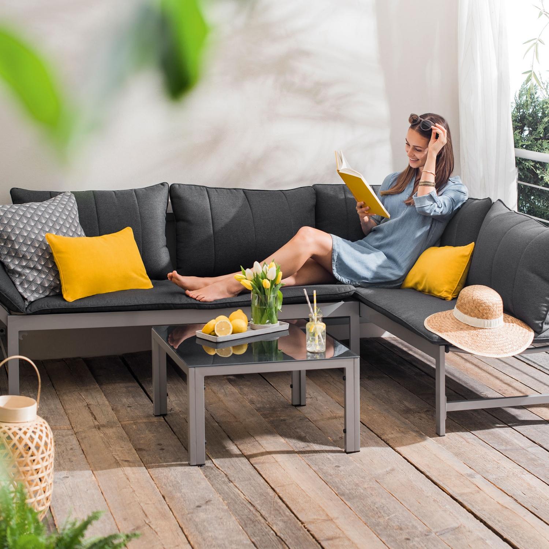 GARDENLINE Alu Lounge Set, 3-teilig