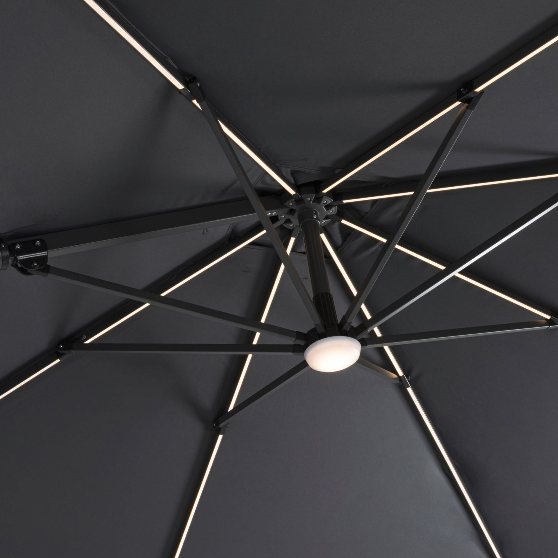 GARDENLINE Ampelschirm mit LED-Beleuchtung