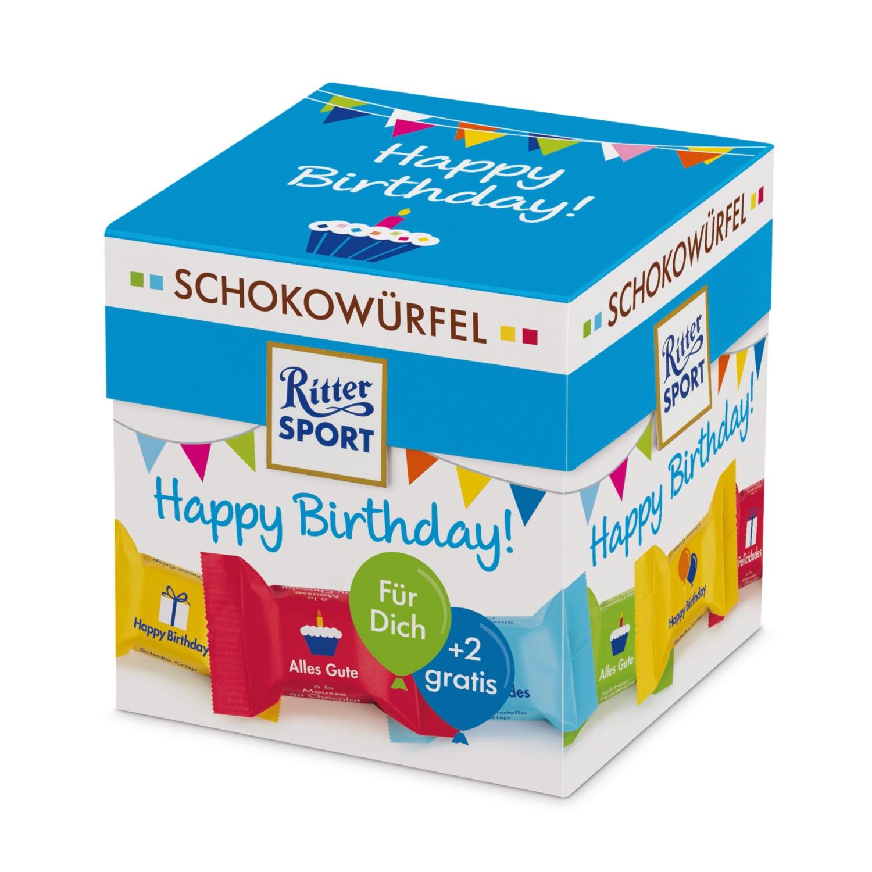 RITTER SPORT Schokowürfel, Happy Birthday