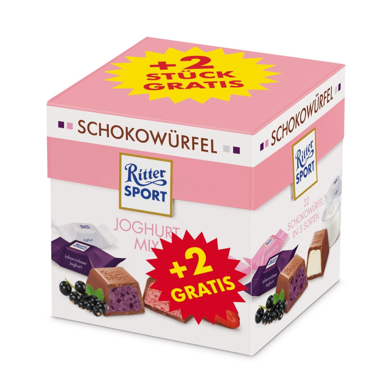 RITTER SPORT Schokowürfel, Joghurt Mix