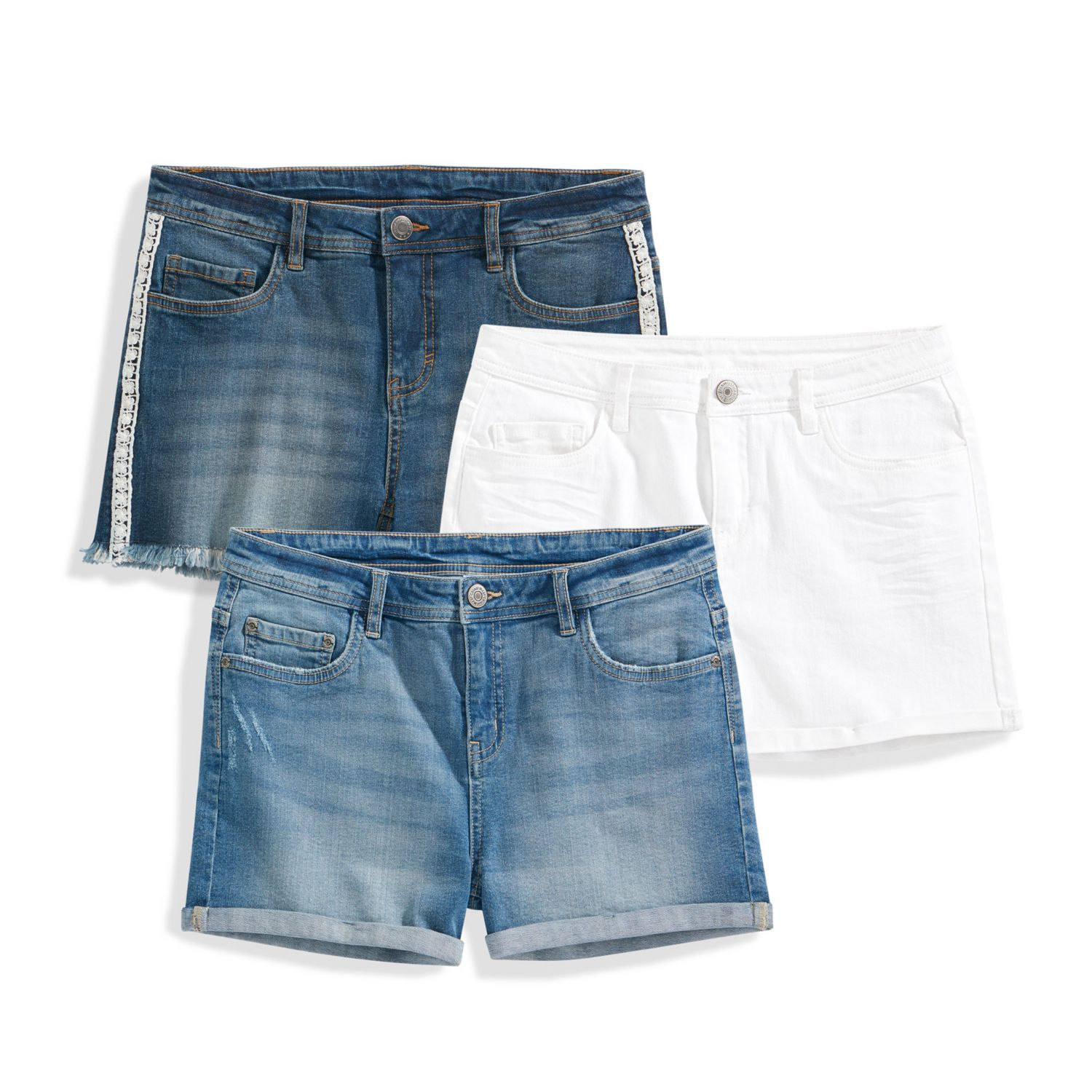 BLUE MOTION Damen-Jeans-Shorts