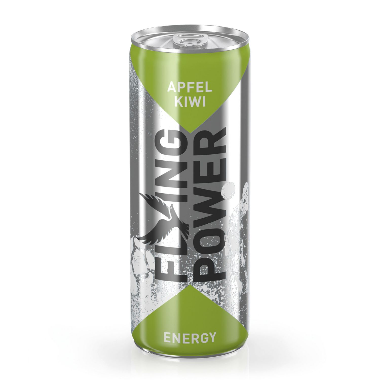 FLYING POWER Energy Drink, Kiwi-Apfel