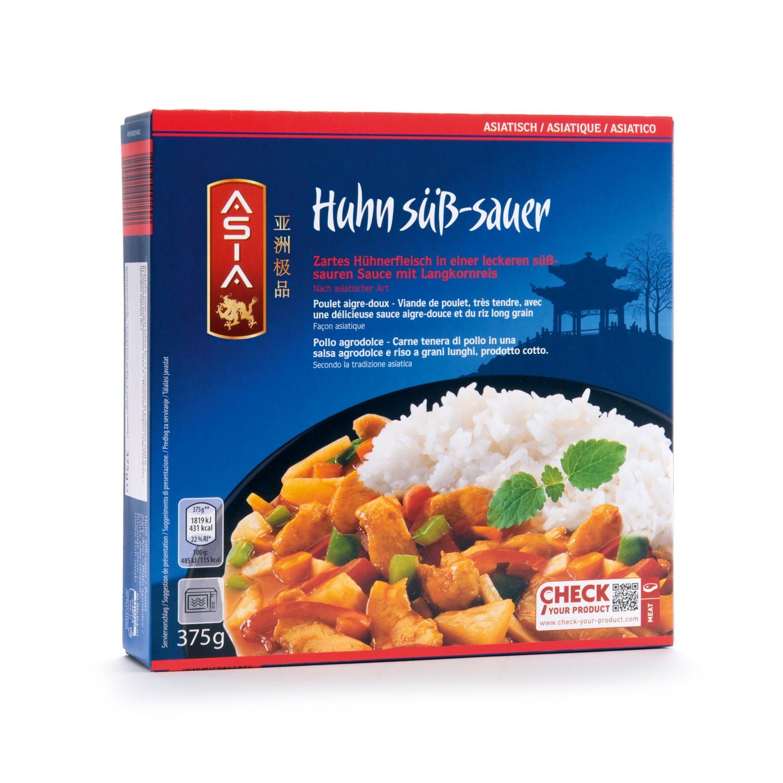 ASIA Chinesisches Fertiggericht, Huhn süß-sauer