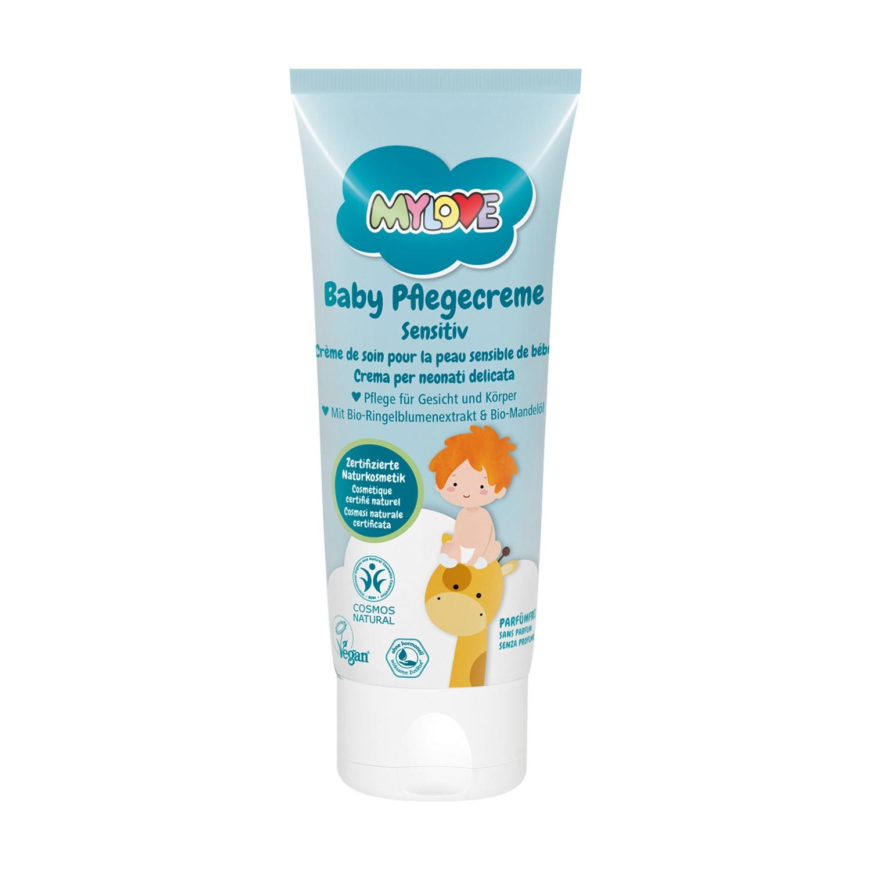 MYLOVE Baby-Pflege-/-Hautschutzcreme Naturkosmetik, Sensitive