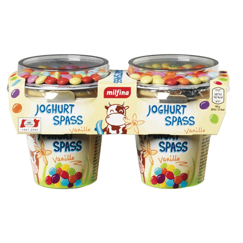 MILFINA Joghurtspaß für Kinder, Vanille