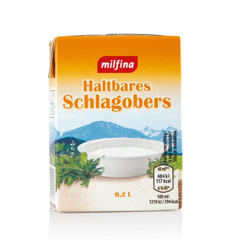 MILFINA H-Schlagobers, Standard