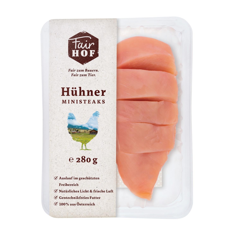 FairHOF Hühnerfleisch-Variation, Ministeaks