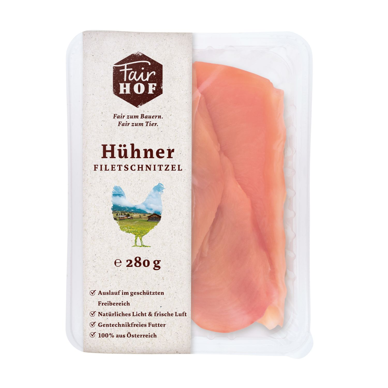 FairHOF Hühnerfleisch-Variation, Filetschnitzel
