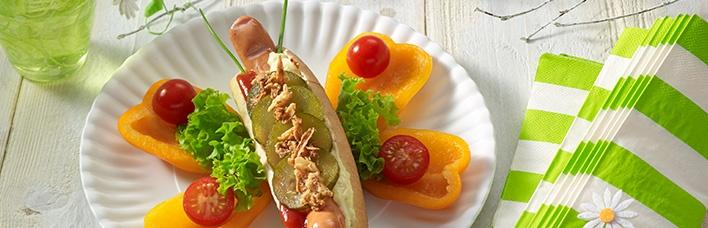 Hot Dogs - als Schmetterling