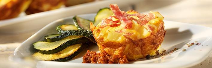 Salami-Kartoffel Frittata mit Pesto