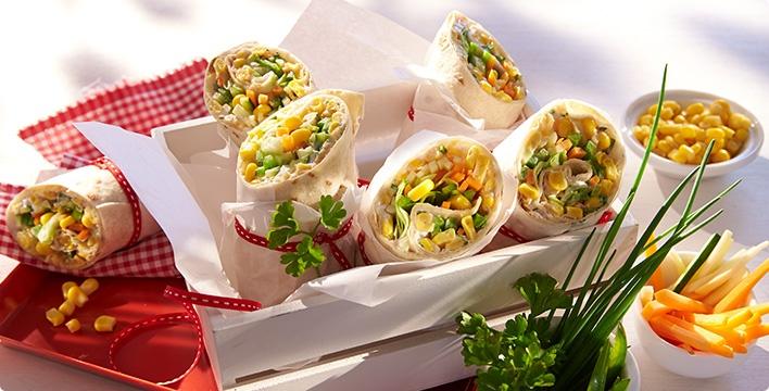 Gemüse-Wraps mit Kräuterquark
