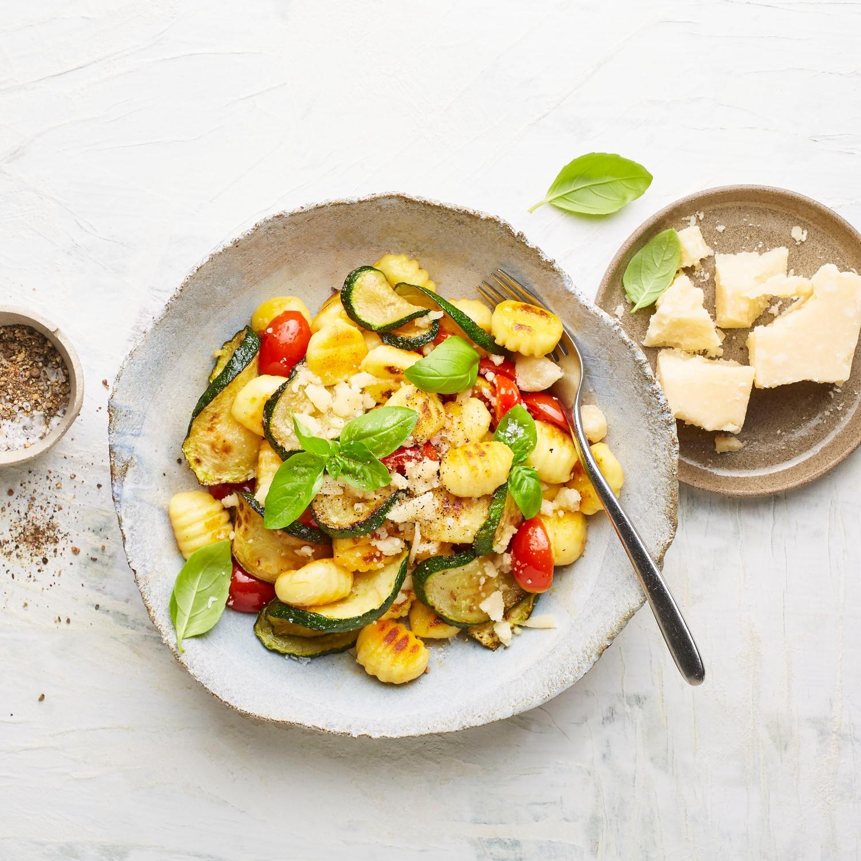 Zucchini-Gnocchi-Pfanne