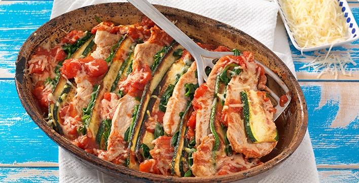 Zucchini-Schnitzelauflauf