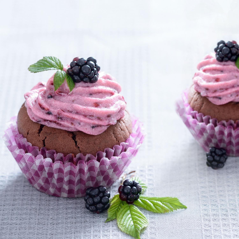 Brombeer-Schoko-Cupcakes