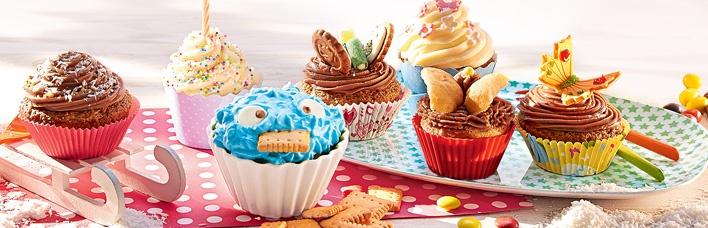 Krümelmonster und Schmetterling Cupcakes