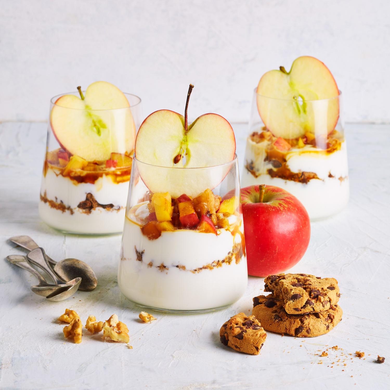 Apfel-Walnuss-Dessert