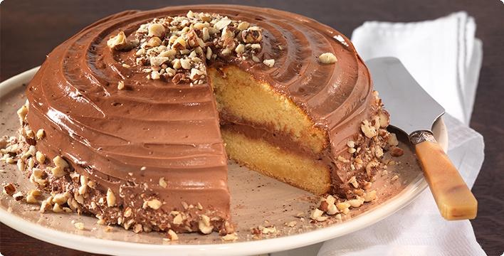 Haselnuss-Nougat-Creme-Torte