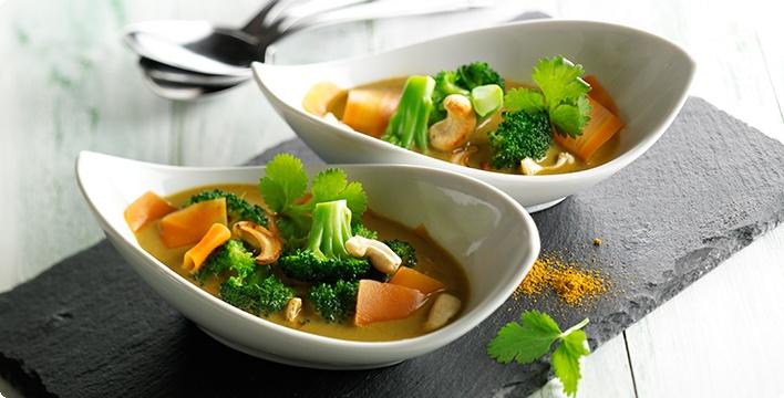 Brokkoli-Curry-Suppe