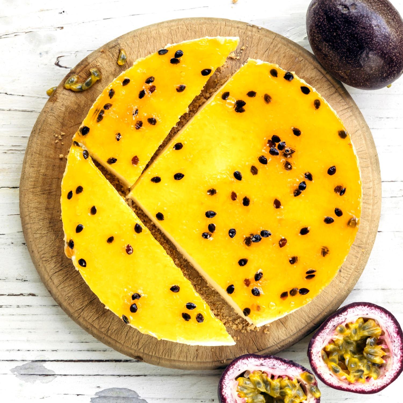Passionsfrucht-Käsekuchen