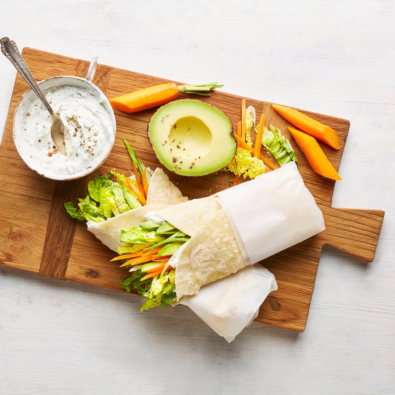 Möhren-Avocado Wrap