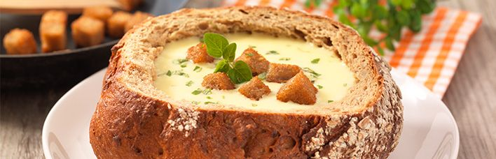 Kartoffelsuppe mit Croûtons