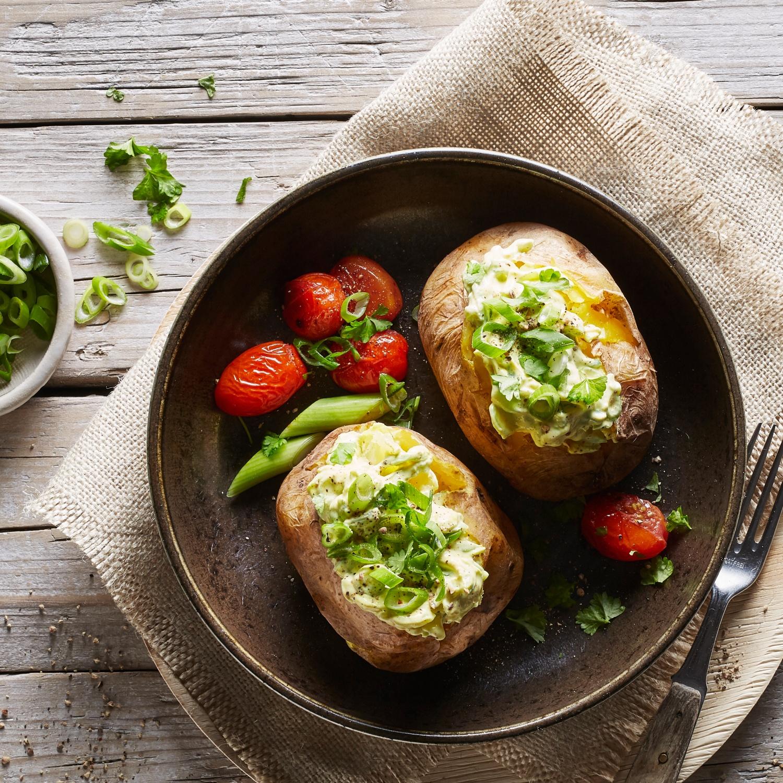 Ofenkartoffeln mit Fetakäse-Kräutercreme