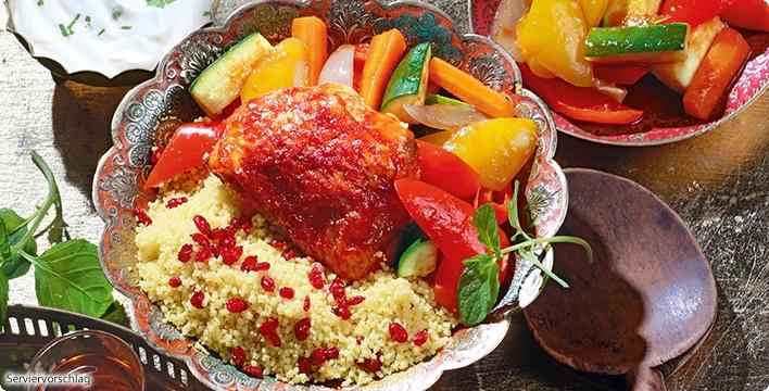 Couscous mit Gemüse und Huhn