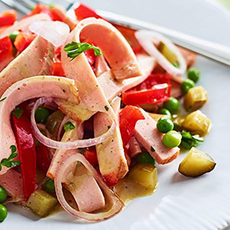 Leberkäs-Salat