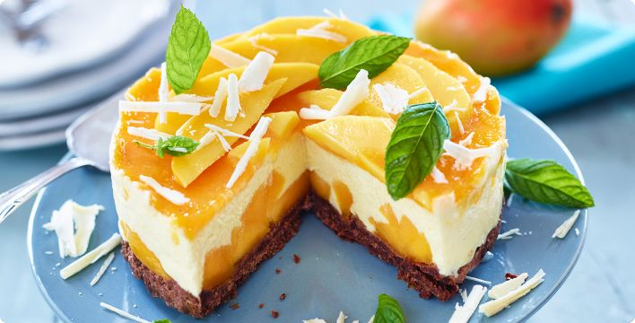 Mango-Frischkäse-Torte