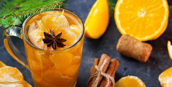 Heller Mandarinen-Glühwein