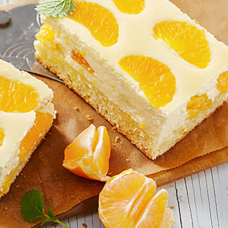 Mandarinen-Quark-Blechkuchen