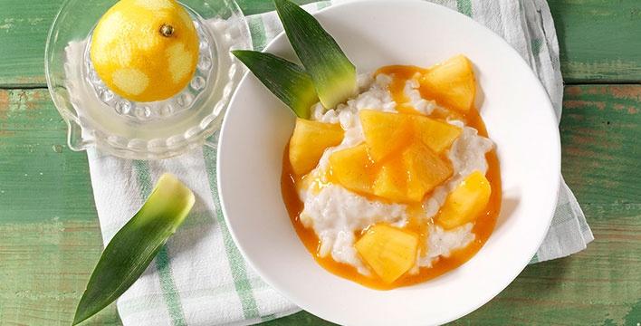 Kokosmilchreis mit Ananas