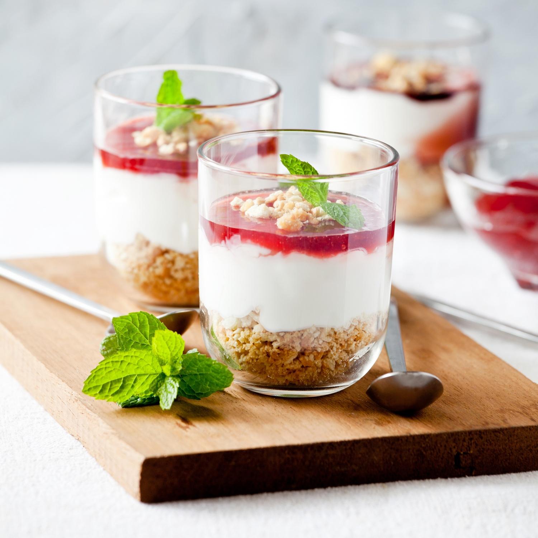 Erdbeer-Cheesecake aus dem Glas