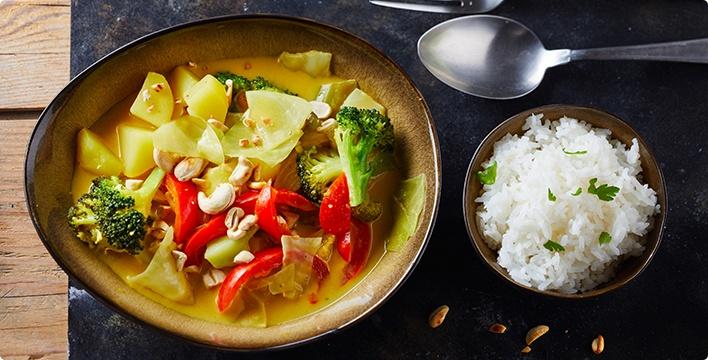 Weißkohl-Curry