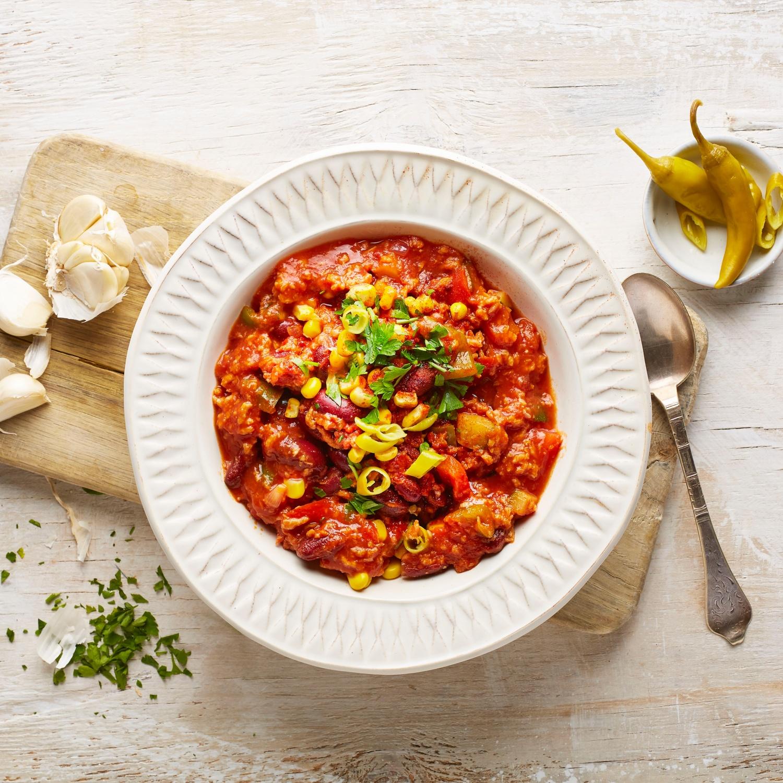 Chili sin Carne und Guacamole