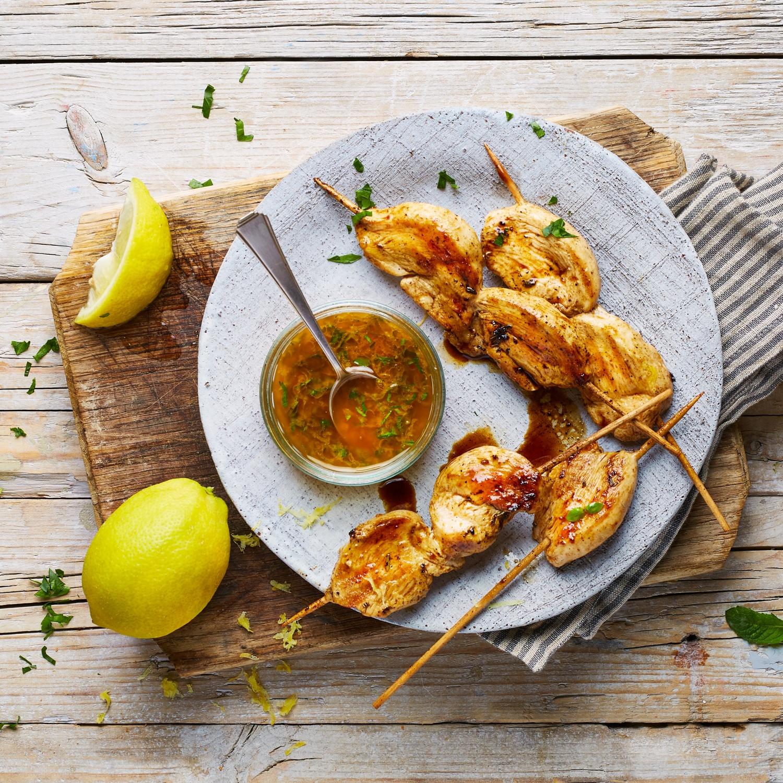 Zitronenmarinade für Hähnchenspieße