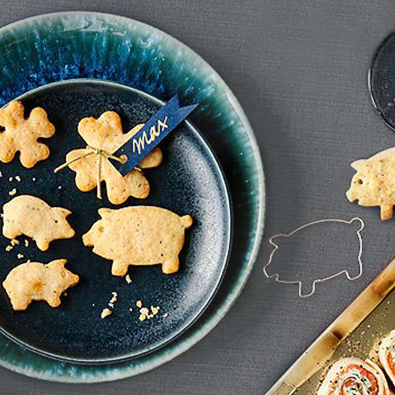 Salzige Knusper-Glücksschweinchen