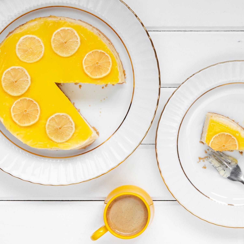 Kuchen ohne Backen - BIO Zitronen-Quark-Torte