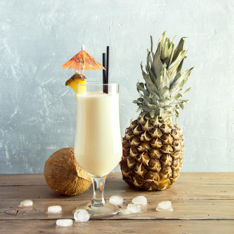 Batida de Coco Cocktail oder Pina Colada Cocktail