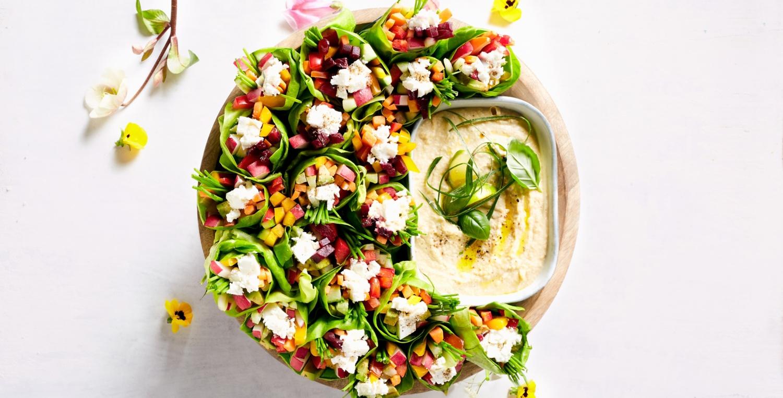 Veggie Salat-Wraps mit Feta