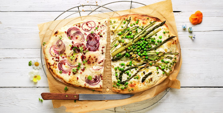 Flammkuchen: klassisch und vegetarisch