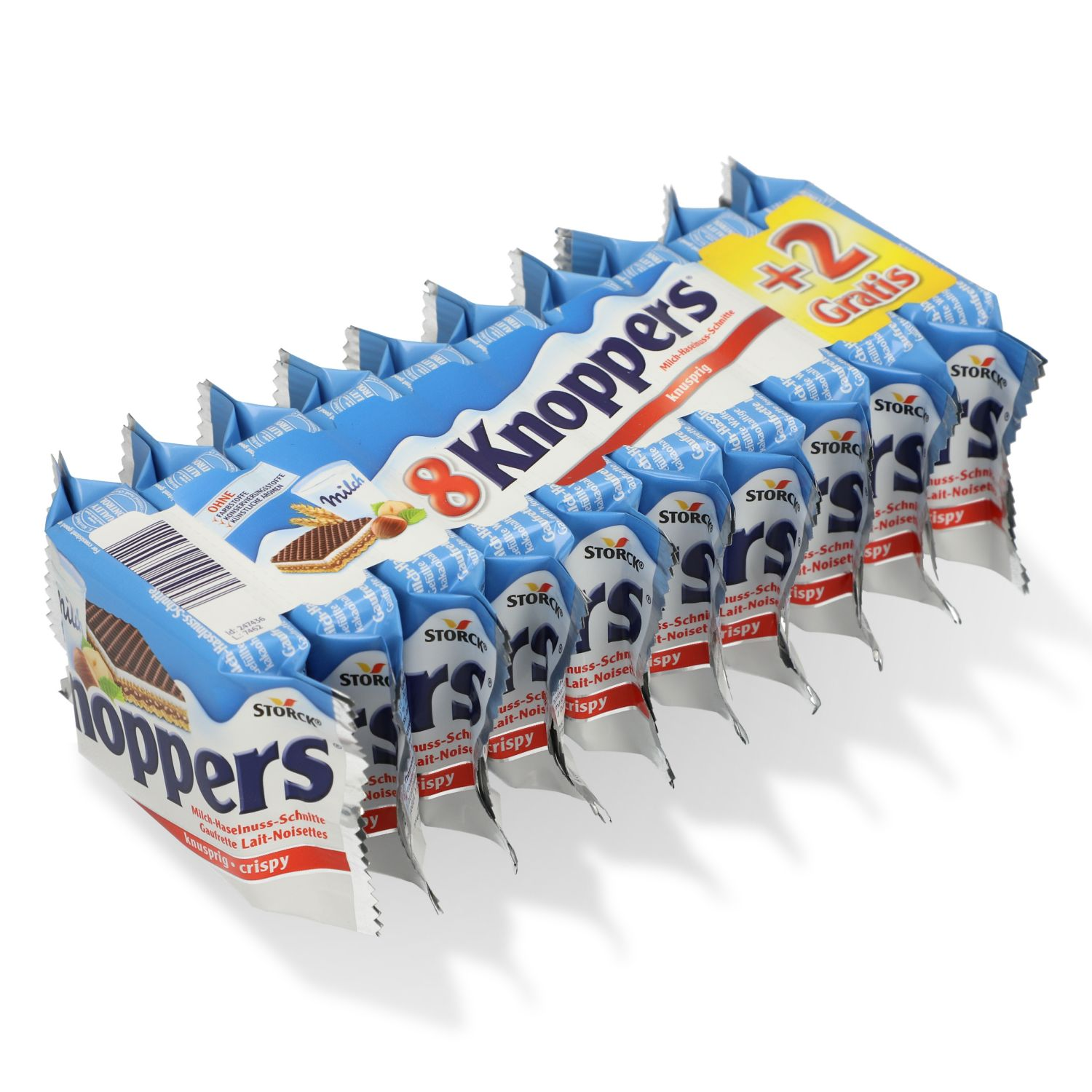 Storck Knoppers Milch-Haselnuss-Schnitte 8 Stk.