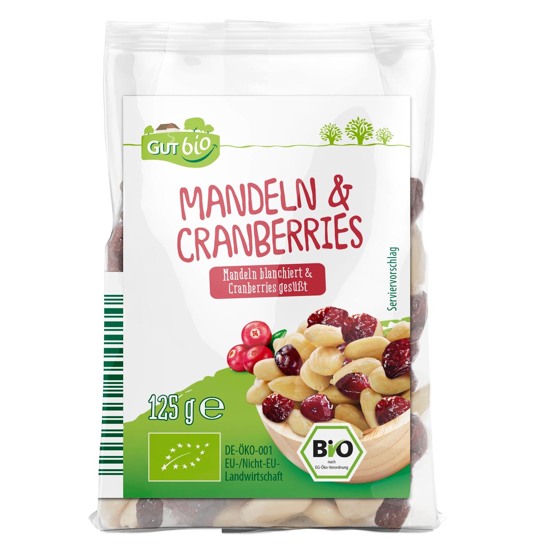 GUT BIO Mandeln & Cranberries/ Cashewkerne 125g