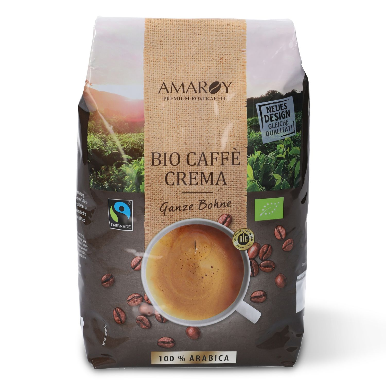 AMAROY Bio-Fairtrade Caffè Crema 1 kg