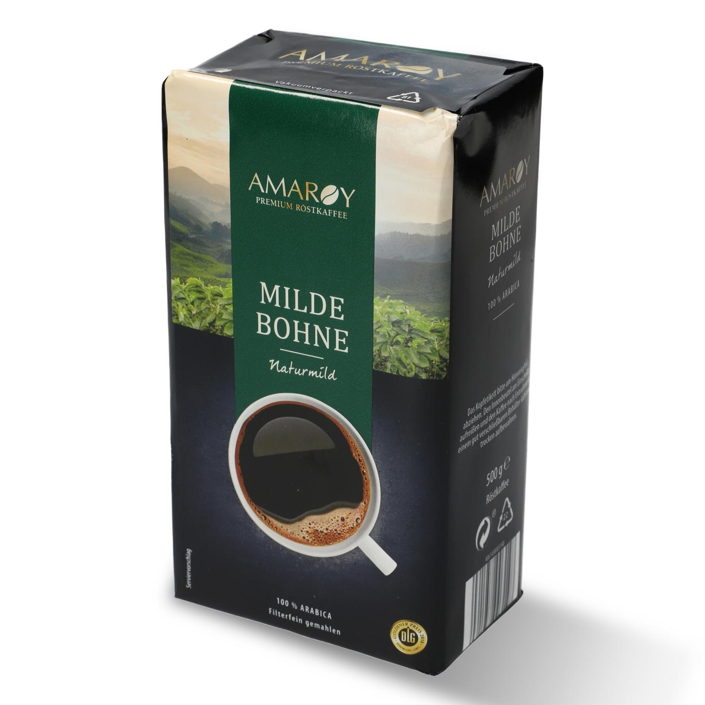AMAROY Premium Röstkaffee Milde Bohne 500g