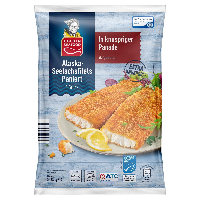 Golden Seafood Alaska-Seelachsfilets paniert 800g