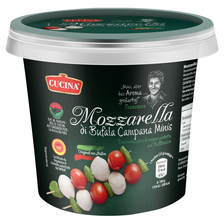 CUCINA Mozzarella di Bufala Campana Minis 490g