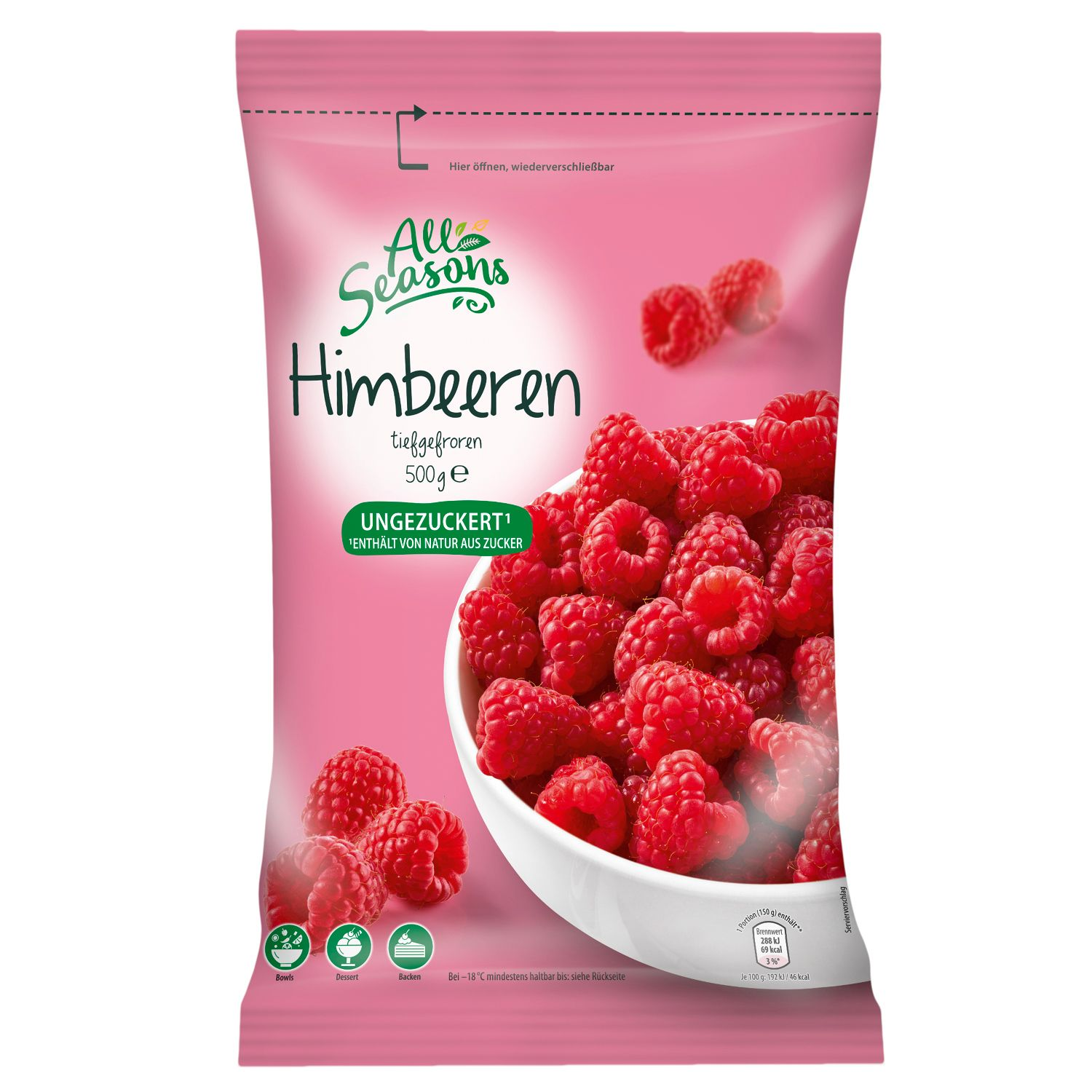 All Seasons Himbeeren 500g