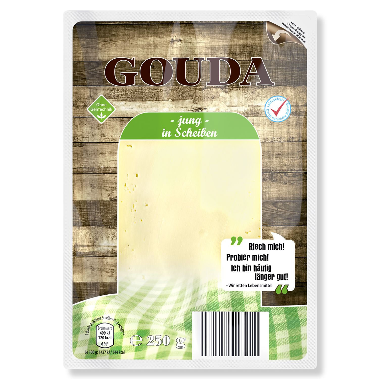 Meine Käsetheke Gouda jung 250g