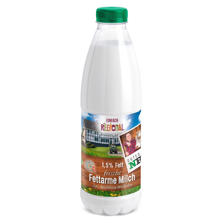 Einfach Regional 1,5% Fett Frische Fettarme Milch 1 Liter